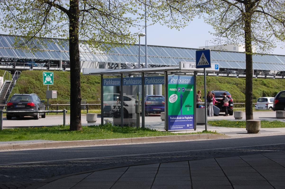 Parkplatz am Flughafen München