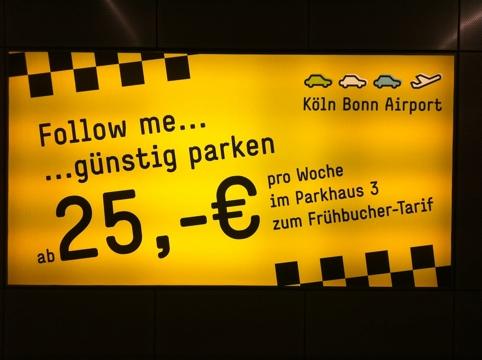 Flughafen Köln Parken billiger?