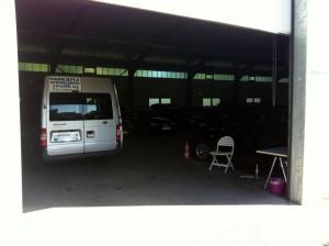 Parken am Bauernhof - in einer Halle