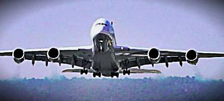Airbus A380 im Landeanflug