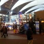 Der überdachte Weihnachtsmarkt am Munich Airport