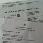 Benachrichtgung zur Abstimmung für die 3. Start- und Landebahn am Flughafen München
